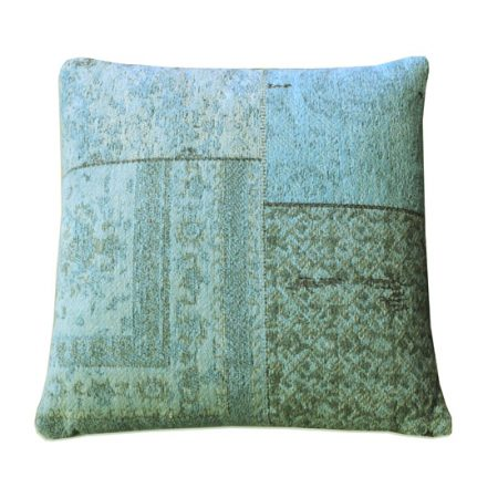 Patchwork kussen Turquoise